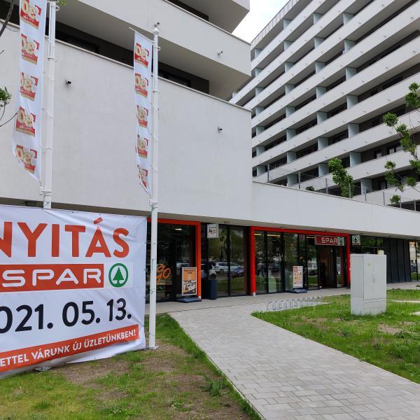 Spar nyitott az Allure Residence Budapest lakóparkban (9. kerület)